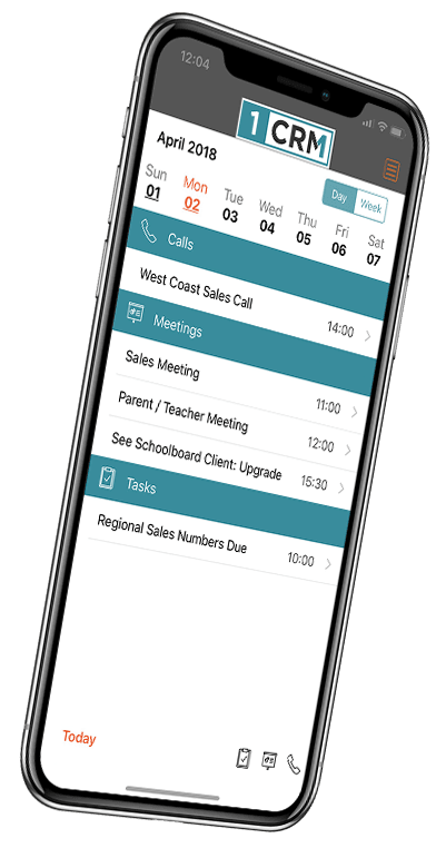 CRM iPhone Mobile App - Download 1CRM for Free