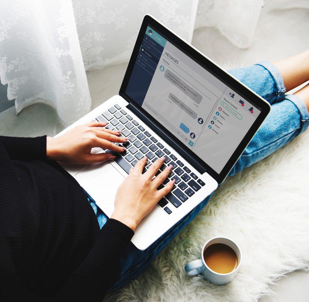 Chatting Laptop on Lap