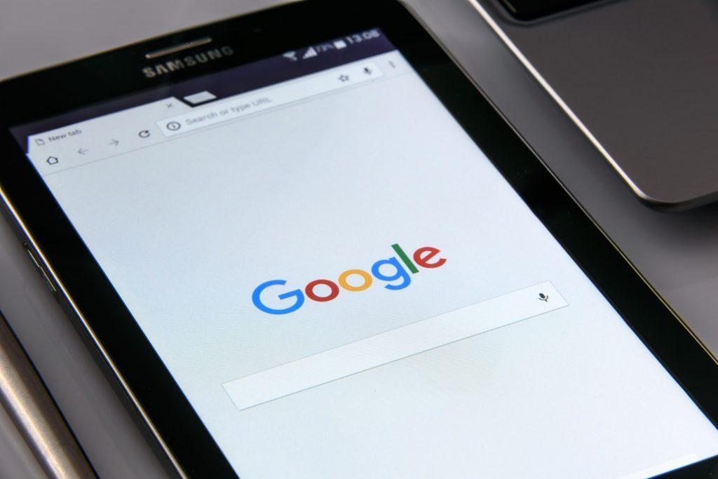 Google on Samsung Tablet