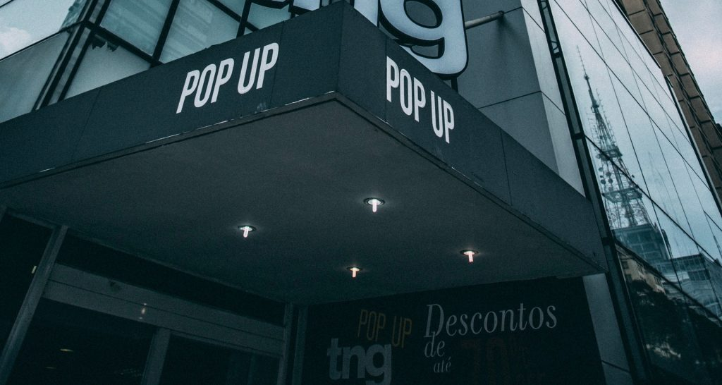Pop Up Store Building Gray
